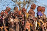 TURMI, OMO VALLEY, ETHIOPIA - DECEMBER 30, 2013: Portrait of unidentified mature Hamar woman at bull jumping ceremony. Jumping of the bull is a rite of passage into manhood in some Omo Valley tribes.
